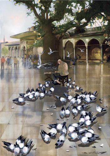 "Topkapı Palace ""Babüssaade""  (Gate of Felicity) by Faruk Cimok."
