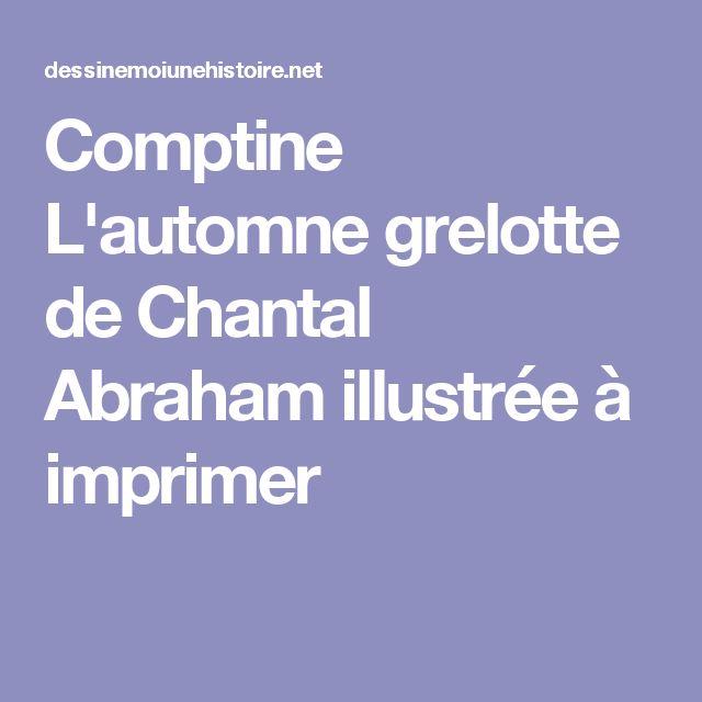 Comptine L'automne grelotte de Chantal Abraham illustrée à imprimer