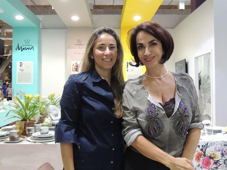 Claudia Matarazzo e Andrea Keffer da Gandalua, onde encontramos tudo para locação de pratos, louças, tudo para sua festa ou reunião. #divanagift #linhadiva #porcelanaschmidt #gandalua @gandalua