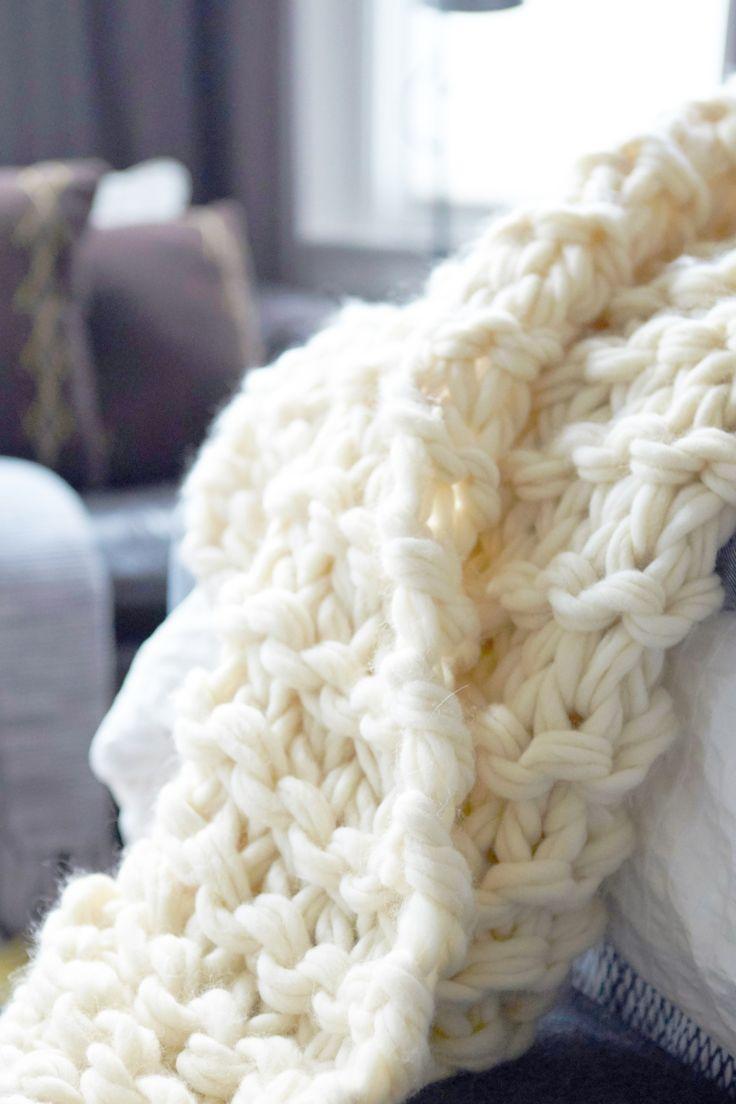 arm knit blanket tutorial - flax & twine