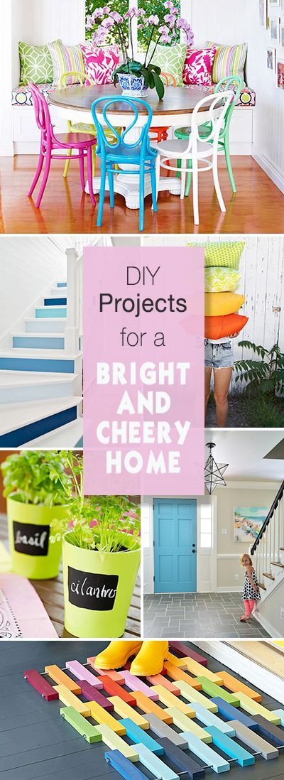 DIY Projects for a Bright and Cheery Home • Lots of great ideas and tutorials!
