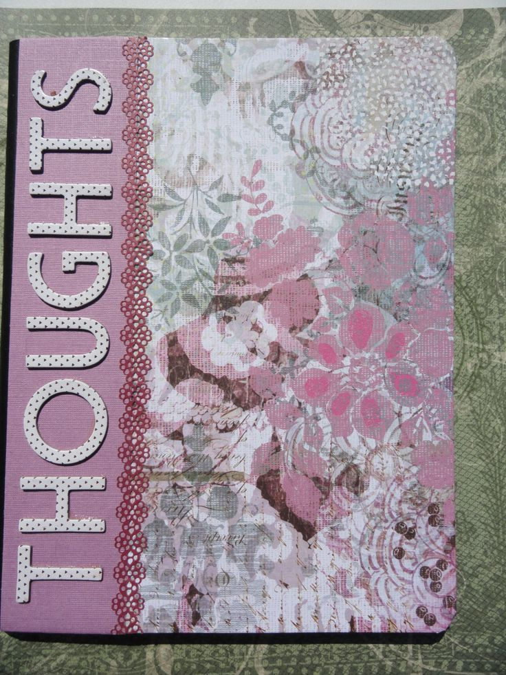 Thoughts Journal Altered Composition Notebook Covered by PaperKind, $8.00