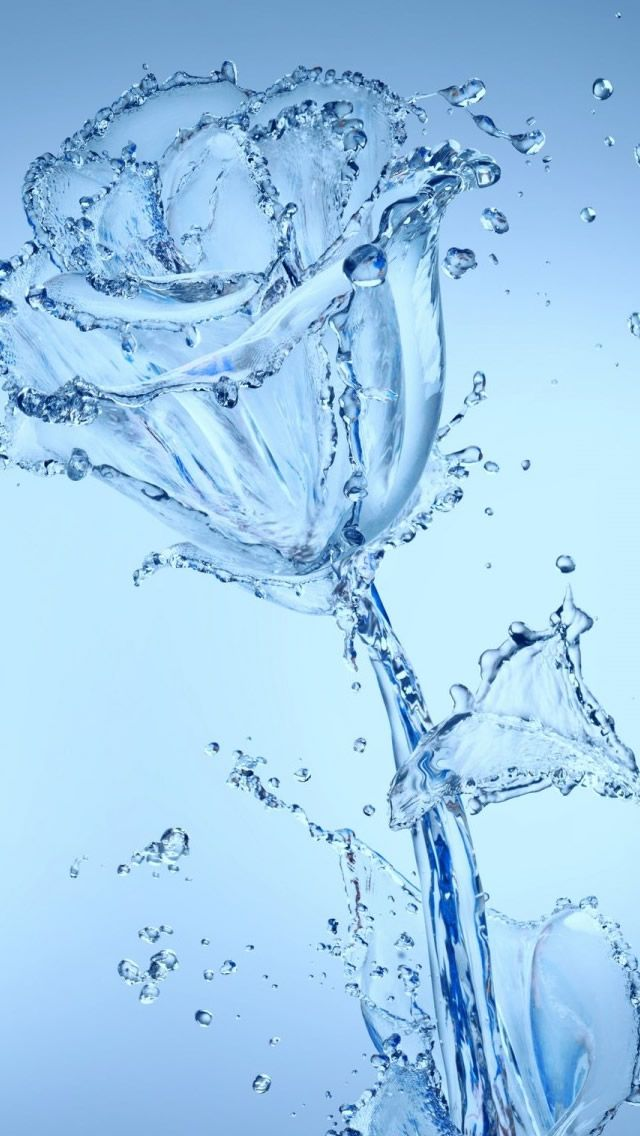 Water Flowers IPhone Wallpaper X