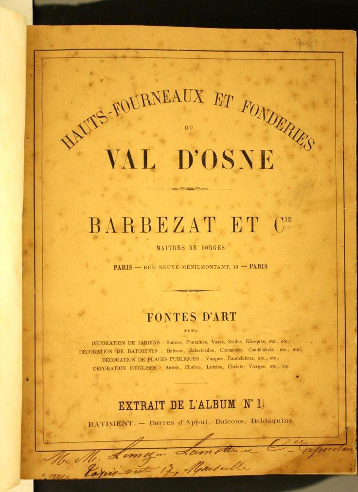 Hauts-fourneaux et fonderies du Val D'Osne : Ba...