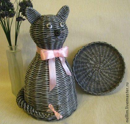 Котик плетеный декоративный. Кошки издревле считаются священными животными. Они  символизируют домашний очаг и уют. Символ кота помогает выходить из трудных ситуаций и помогает в борьбе со злом. Эти милые создания являются традиционным символом…
