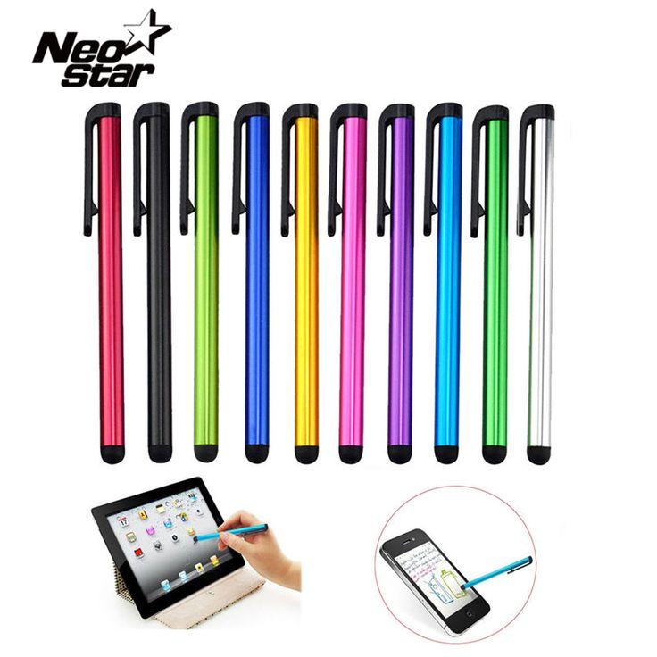 10 unids/lote capacitiva pantalla táctil lápiz óptico para ipad air mini 2 3 4 para el iphone 4s 5 6 7 samsung universal tablet pc inteligente teléfono