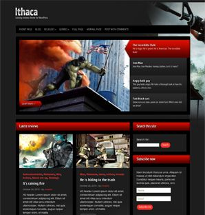 Ithaca Gaming review theme for WordPress
