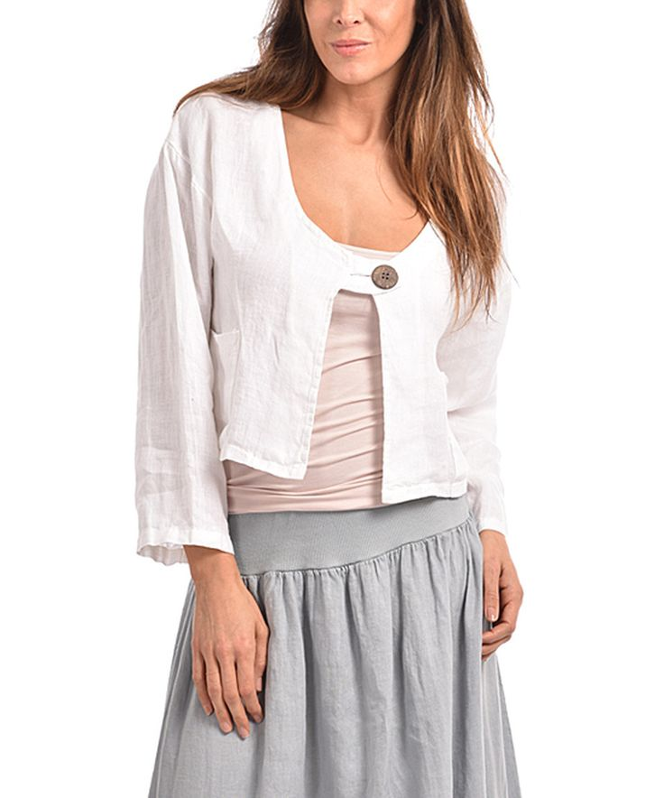 Linen Bolero  Plus Too by Couleur Lin #zulilyfinds Very Cute $4699