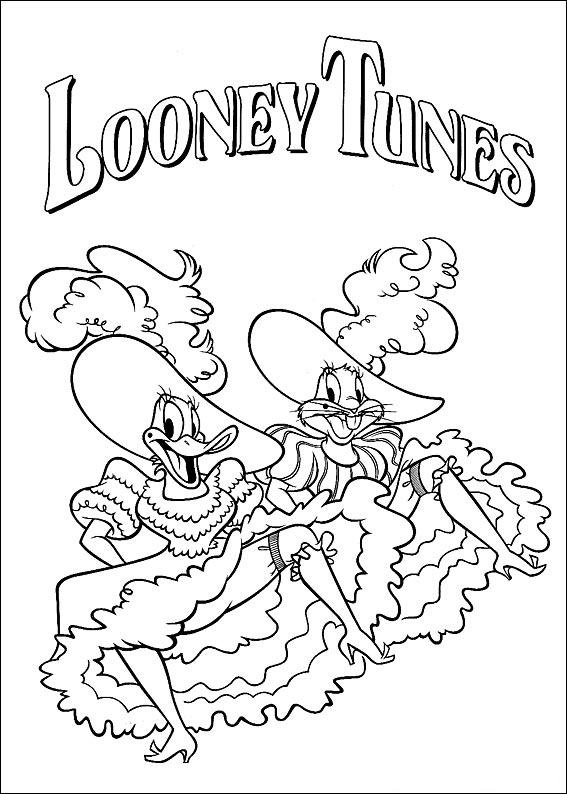 loney tunes coloring pages for kids 11