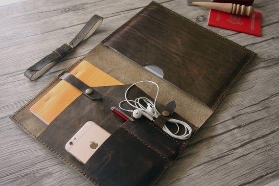 Leather 11″ MacBook Air Case 2016 MacBook Pro Sleeve Bags, Personalized MacBook Retina Covers, Custo