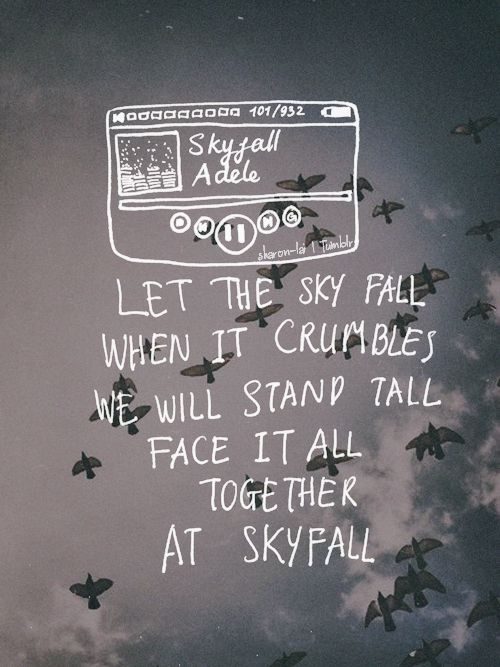 Imagen de Adele, Lyrics, and skyfall