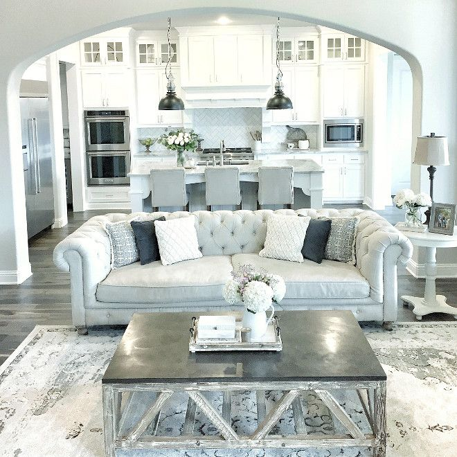 Gray And White Transitional Rustic Living Room With: Best 25+ Farmhouse Living Rooms Ideas On Pinterest