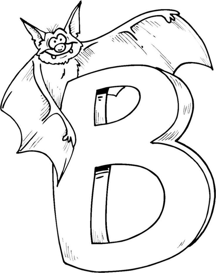 b for bat coloring pages - Bats Coloring Pages