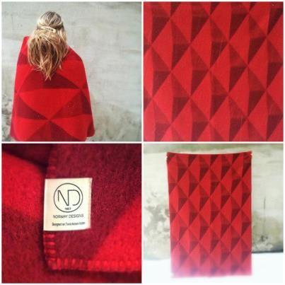 Wool blanket inspired by waffles!
