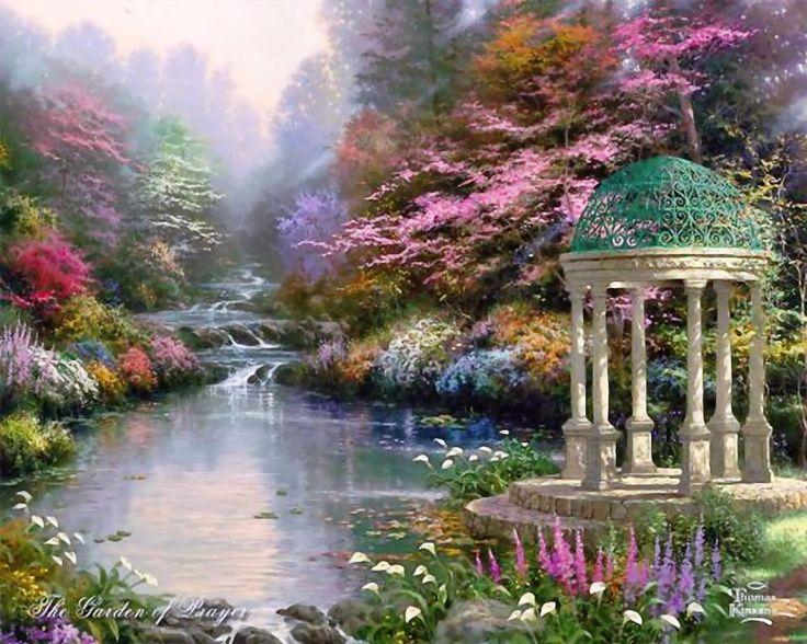 Томас Кинкейд, дивный сад, размер: 1280x1024 пикселей