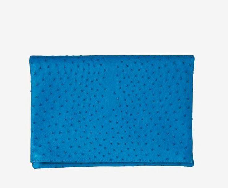 Fold over clutch - genuine ostrich leather  www.katvanduinen.com