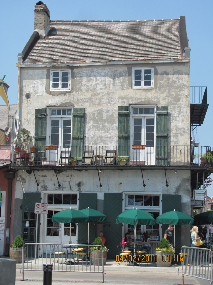 The corner of Barracks and Decatur Streets in the French Quarter - New Orleans, Louisiana