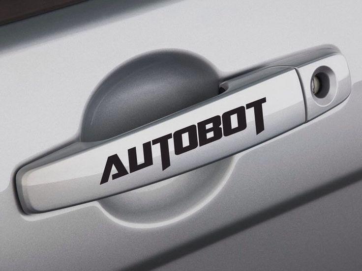 Autobot transformer handle decalscarlaptopwindow x2 by stickerstop1 on etsy https