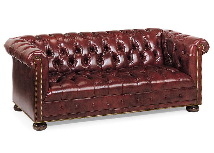 Chesterfield sofa with fixed seating