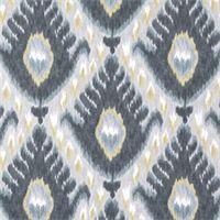 $12/YARD Bold Ikat Mineral Grey Print Drapery Fabric by Robert Allen