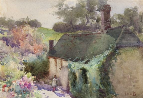 Artwork by Mildred Anne Butler, A Hampshire Cottage, Made of watercolour