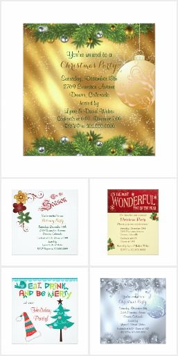 Holiday Party Invitations - The Christmas Season is the most festive time of the year! Whether your Holiday party is corporate, private, or just family, it should start off with a custom party invitation...check these out!