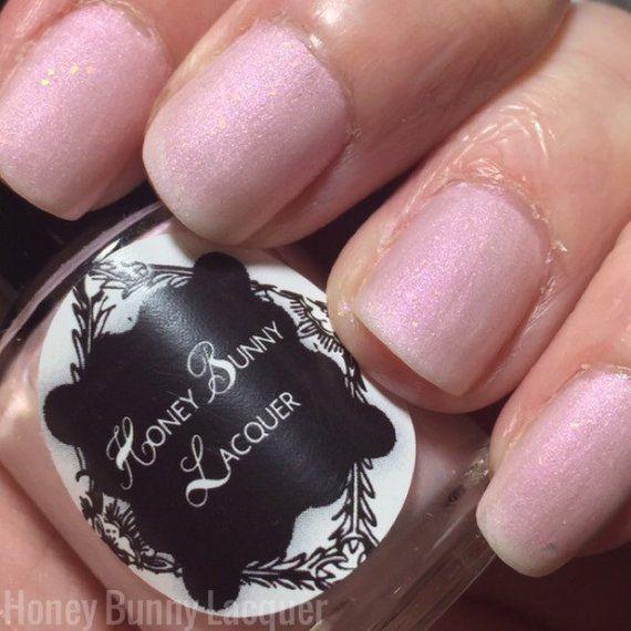 Pink Opal – matte nail polish – pink – 5 free – handmade – indie nail polish – p…