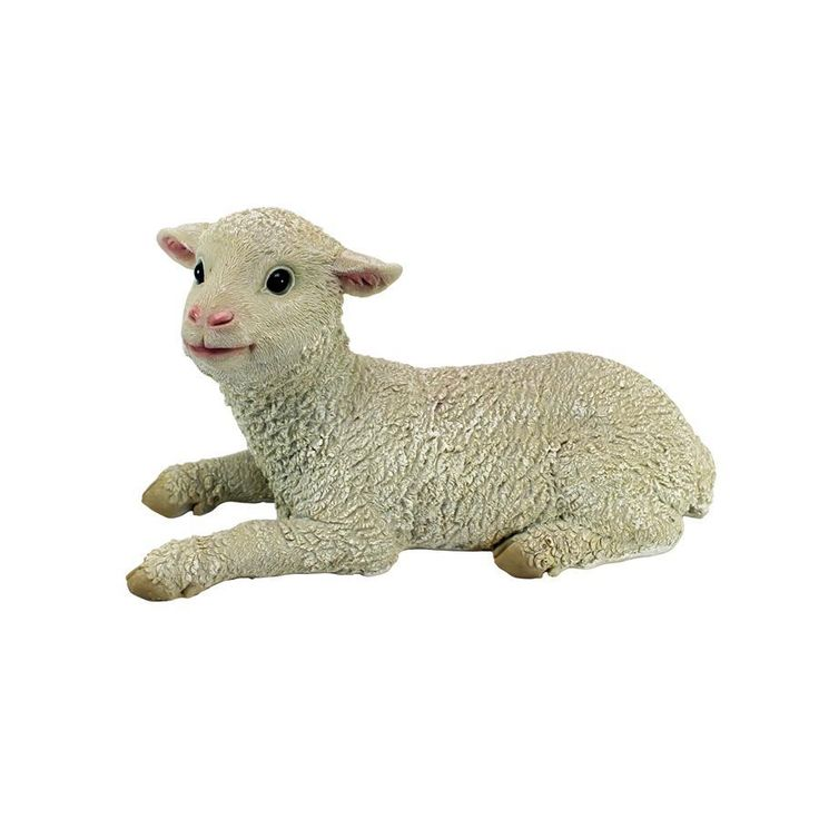 Aries Sitting Lamb Home Decor Statues