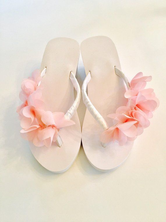 bd371a044e5d04 Bride Flip Flops Wedges Wedding Flip Flops Shoes Sandals Bridesmaid Flip  flops Beach Wedding Flip Flops Bride Gifts