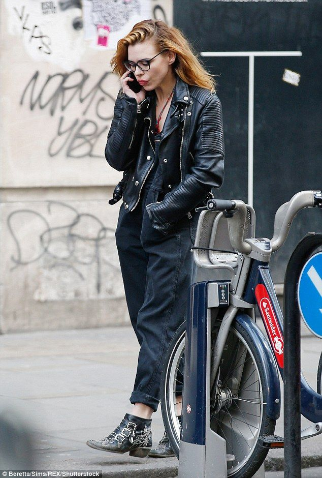 Rockin' that look! Billie Piper has certainly graduated to a more edgy style aesthetic now she's in her thirties as she showed off her grungy style in London