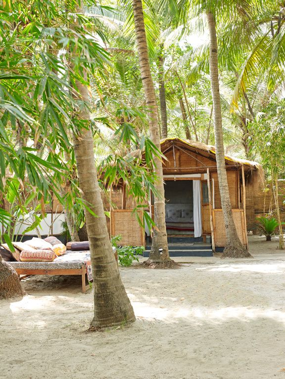 La maison de Jade Jagger à Goa / Inde © Gaëlle Le Boulicaut (AD n°118 juillet-août 2013)                                                                                                                                                                                 Plus