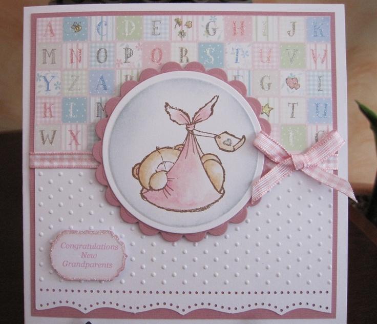 Скрапбукинг открытка для девочки 3 года