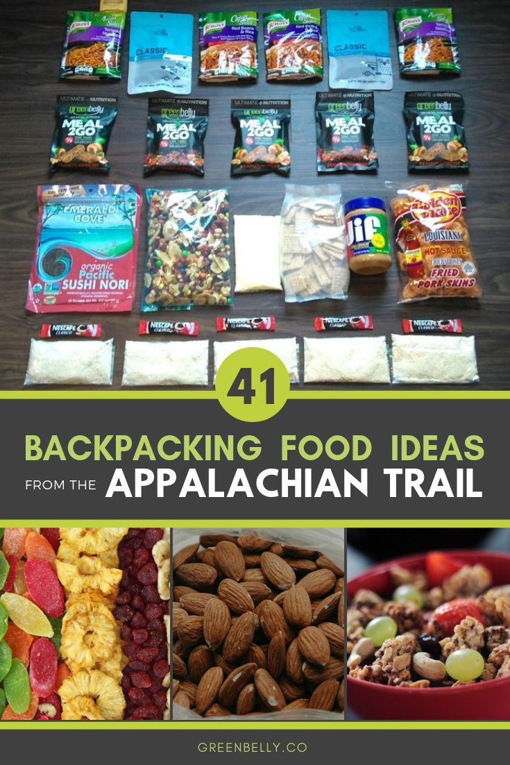 41 Backpacking Meals Concepts from the Appalachian Path