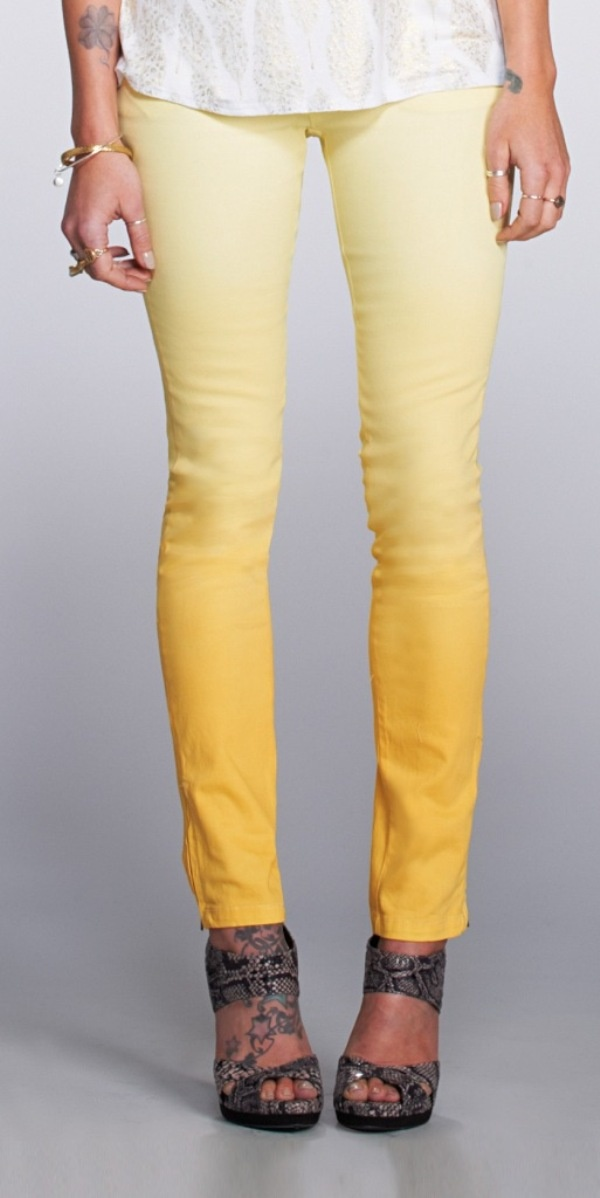 ombre skinnies..oh lord! I need to have these @ Ashley Baldueza!