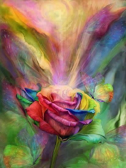 RAINBOW ROSE & BUTTERFLY | RAINBOW COLORS | Pinterest