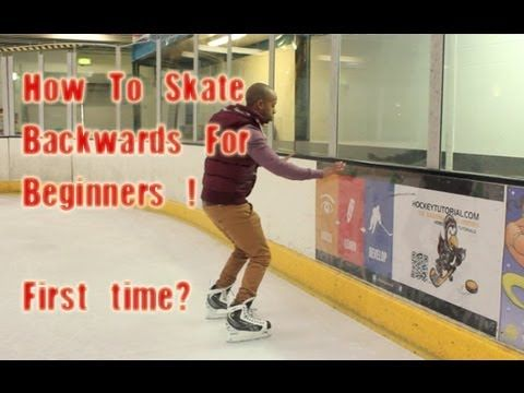 How To Skate Backwards For Beginners - First Time Backward In Ice Skating & Hockey - YouTube