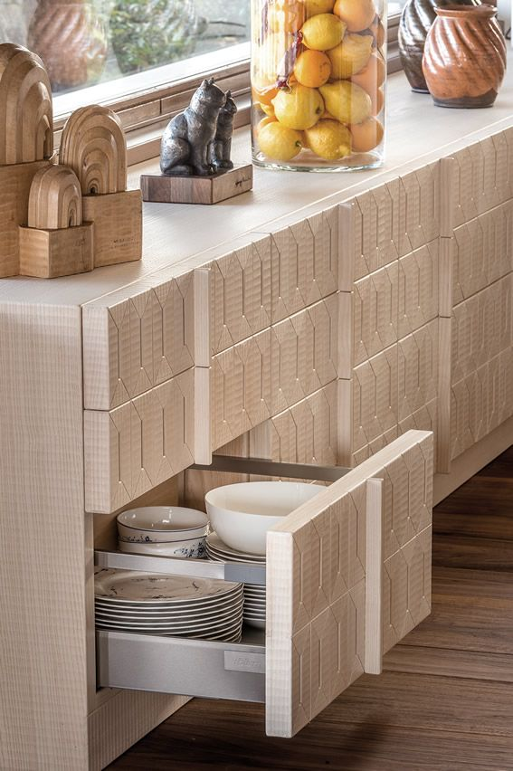 HABITO by Giuseppe Rivadossi ash wood kitchen furniture detail.  #design #madeinitaly