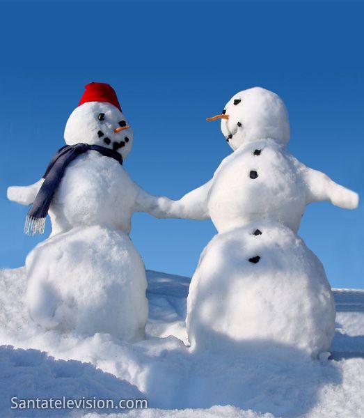Snowmen in Lapland in Finland