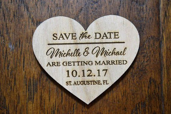 Save the date heart Magnet Sample only