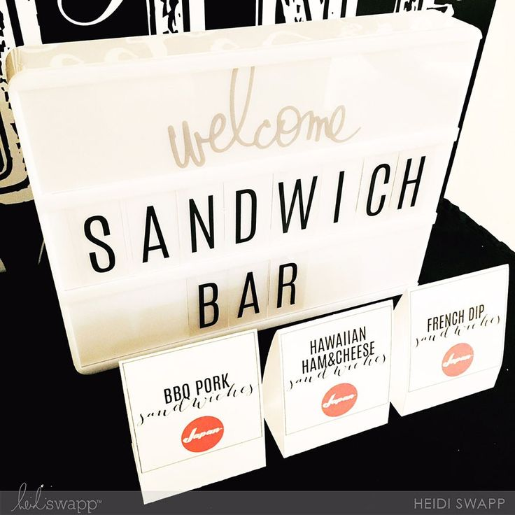 Party and Mission Farewell decor by @heidiswapp using the Lightbox