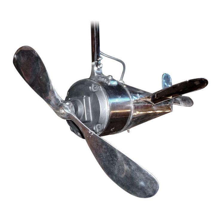 Art Deco Airplane Ceiling Fan Modern Decorative Objects