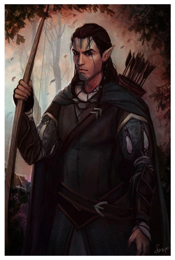 BG: Black archer by Smilika (Kivan, #BaldursGate #elf)