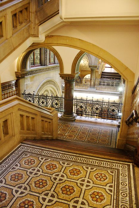 """""""Locked in centuries long gone!""""..A beautiful, if empty stairwell, reflecting changing times!..Folk are likely elsewhere, on their 'Kindles' or verbalising questions to 'Google' on their i-pads..LEEDS CENTRAL LIBRARY - 2010..Photographer unknown.."""
