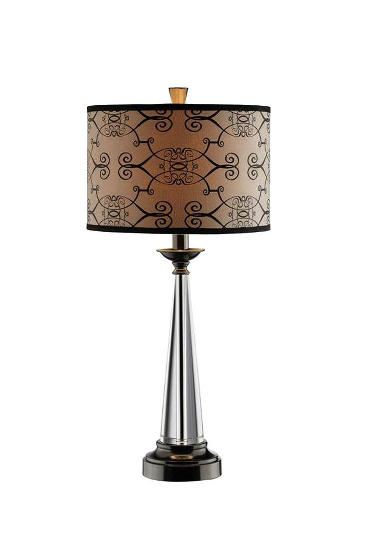 32 best crystal table lamps images on pinterest table lamps tapered crystal table lamp bold abstract hardback shade geotapseo Image collections