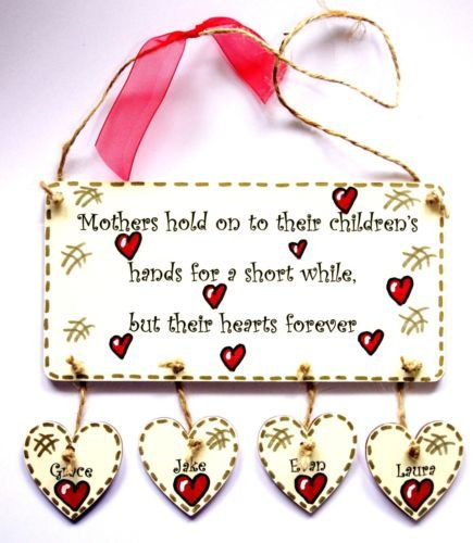 PERSONALISED Gift For Mother & Family - Christmas present for Mum Keepsake by VisualSenseCrafts on Etsy