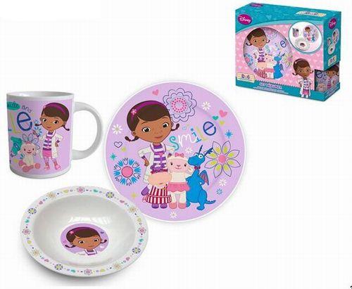 BRUMLA.CZ – Značkový dětský a dospělý second hand a outlet, použité oděvy pro děti a dospělé - Nové - 3set- keramický hrnek + miska + mělký talíř s Doc McStuffins zn. Disney