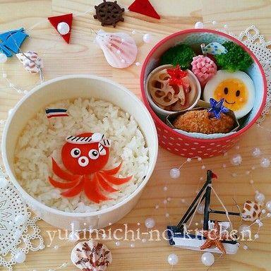 Octopus Bento 海のおともだち☆たこさんのお弁当