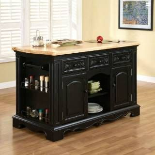 Check Out The Powell Furniture 318 416 Pennfield Kitchen Island In Black  Sand Through