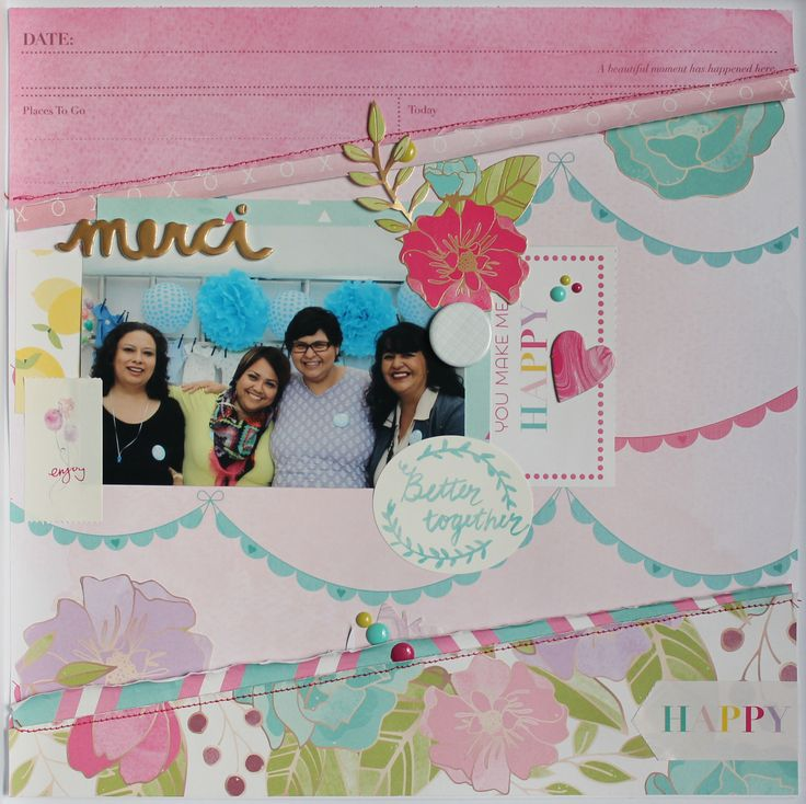 MERCI by @nannysrodriguez using Serendipity collection by Dear Lizzy and @americancrafts #dearlizzy #american crafts #layout #scrapbook