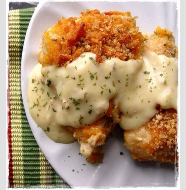 Baked Cheesy Breaded Chicken | Yums to make | Pinterest